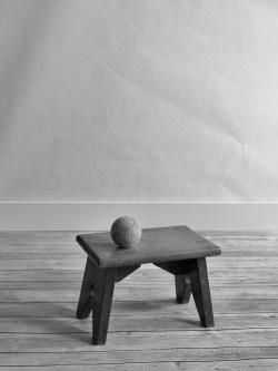 monochrome studio for a toddler