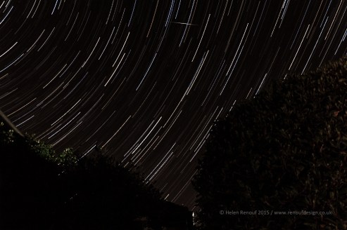Star Trail - 91 images over my garden