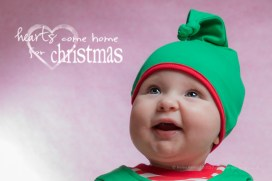 Rosalyn's First Christmas photoshoot - age 6 months.