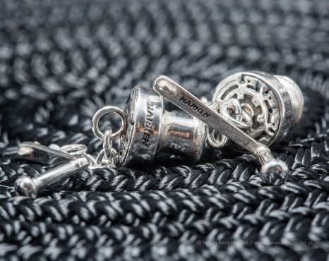 Cest La Vie Jewellery - The Charm Range. Solid silver nautical charm jewellery with intricate detailing. The Harken pieces are authentic and completely accurate down to the Harken logo!