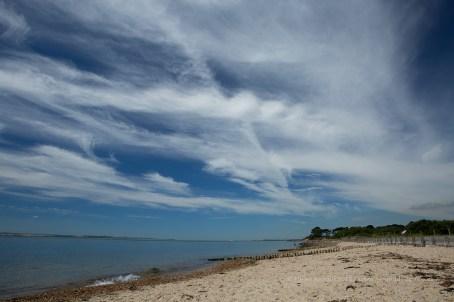Lovely Blue Skies at Lepe Beach in the sunshine!