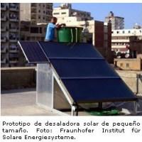 Desaladora alimentada por energía solar