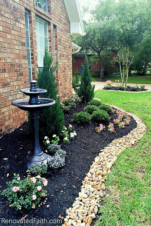 Best Front Yard Landscaping Ideas On a Budget (DIY ... on Garden Design Ideas On A Budget  id=46821