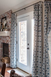 sliding door curtain rods renovated faith