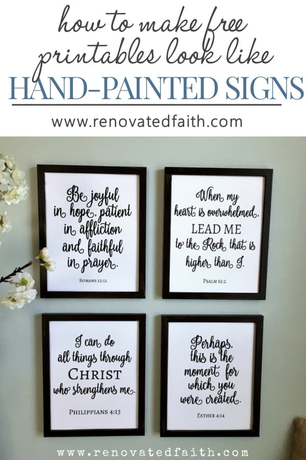 The Easy Way To Make Diy Painted Signs Free Scripture