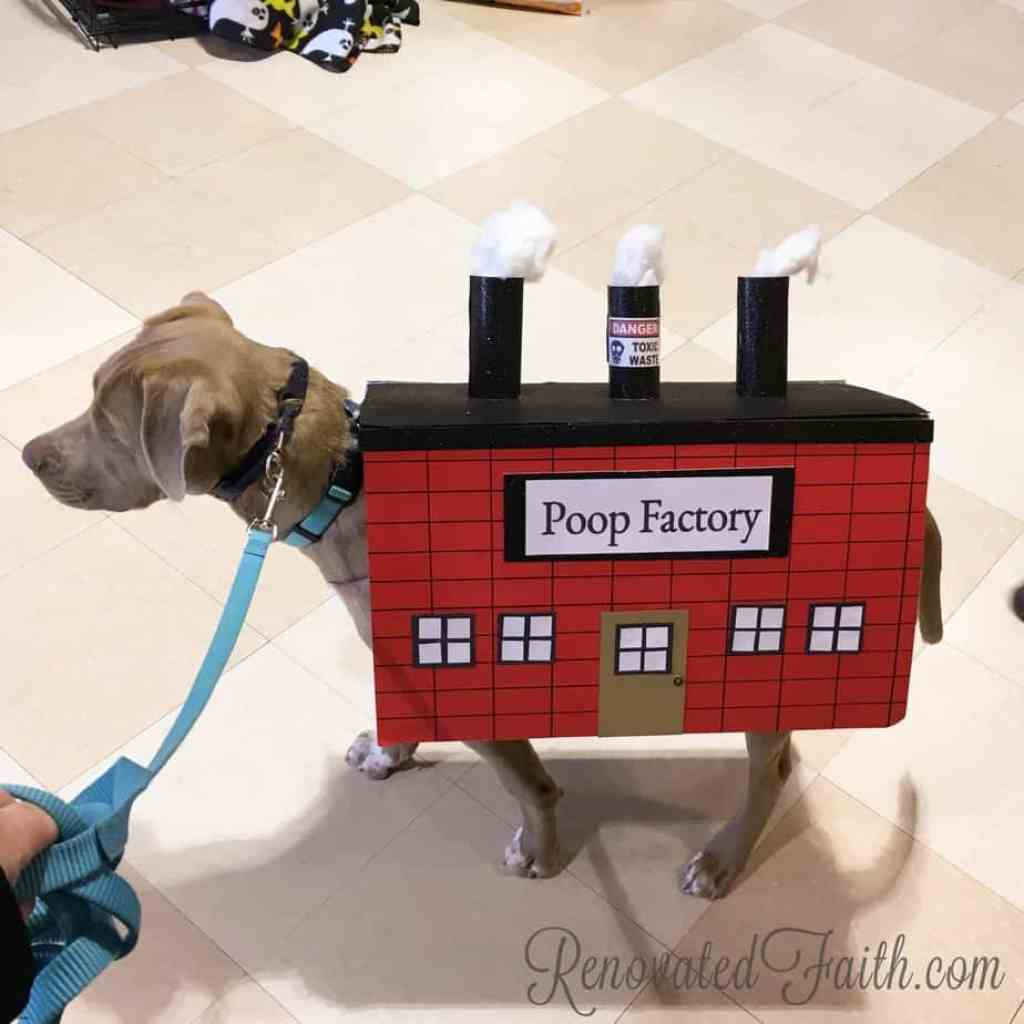 Poop Factory Dog Custume