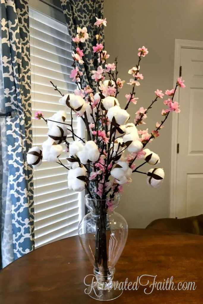 DIY Cotton Stems #cotton #diycotton #farmhouse