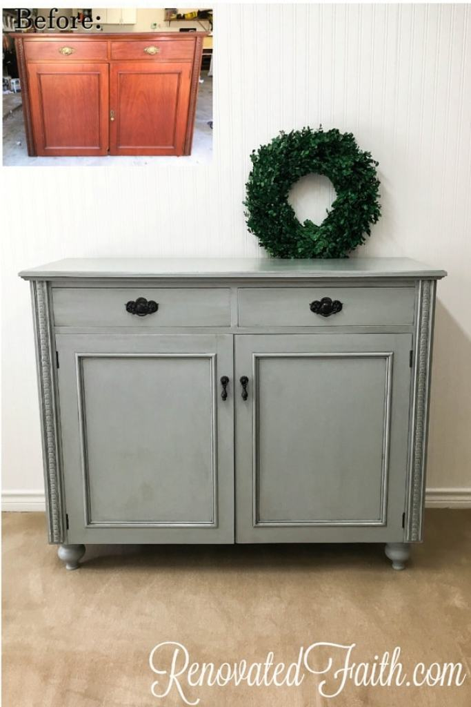Upgrade any furniture piece by adding feet for a more sophisticated look! How To Add Legs To Furniture (Buffet Reveal) #furniturefeet #furniturelegs