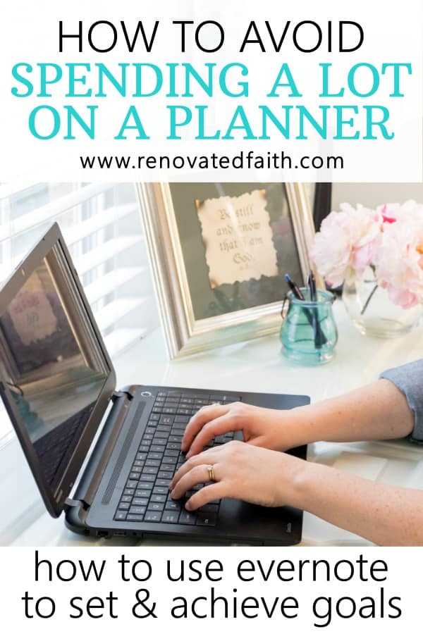 evernote as a planner