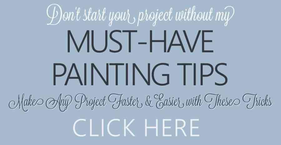 DIY Furniture Painting Techniques and Tips - Must-Have Painting Tips - Don't start your DIY project without these tips for painting furniture. These painting tricks will make any furniture makeover or wall painting project go faster and smoother. FREE DOWNLOAD. #diyfurniturepaintingtechniques #renovatedfaith #paintingtips #paintingtricks #furnituremakeover #howtopaintadresser