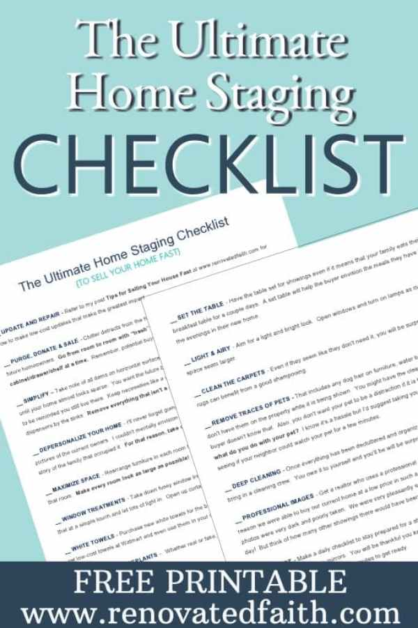 Ultimate Home Staging Checklist -Tips for Selling Your House Fast - Do you want to maximize the return on your investment when updating your home to sell? Do you wish you could shorten the amount of time your home is on the market? Sure you do. I'm sharing my best tips for selling your house fast which helped our old house to get 24 showings and 12 offers within the first 24 hours. How To Get Your House Ready To Sell. Home Selling Tips 2018. #sellhouse