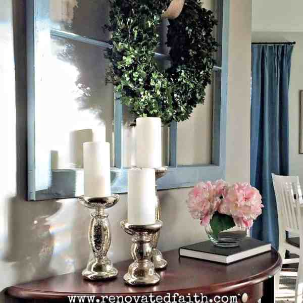 """Should I DIY or buy? Here are 5 tips to help you decide whether to buy or make your next home decor item, as well as the best way to """"make"""" a boxwood wreath. How to make an artificial boxwood wreath. DIY preserved boxwood wreath. How to make a real a real boxwood wreath. #boxwoodwreath #preservedboxwood #boxwoodsprigs"""