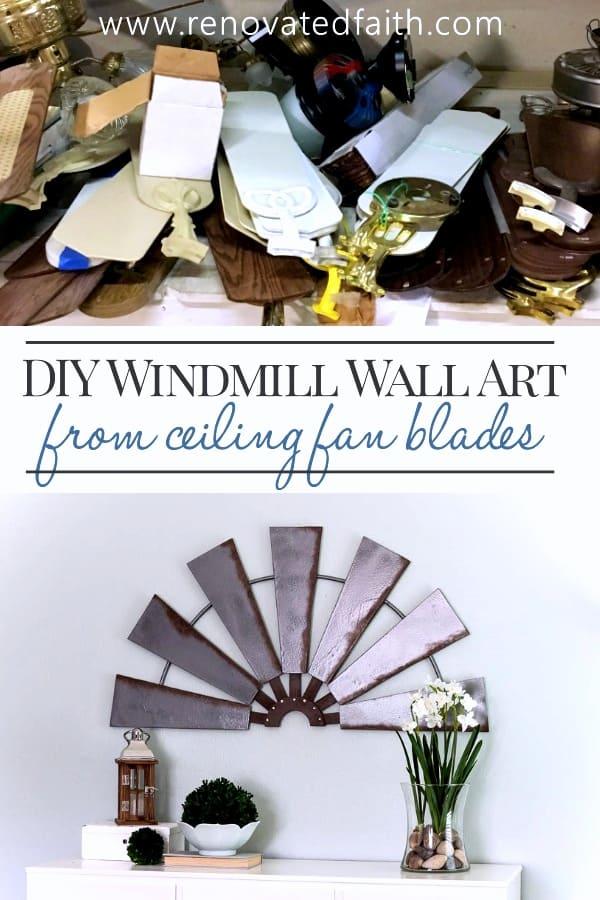 diy windmill wall decor