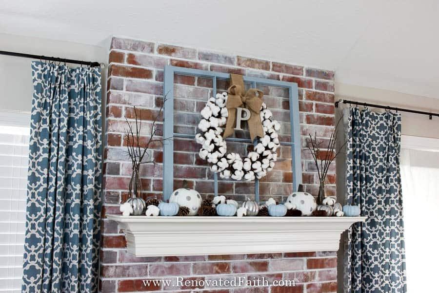 blue thanksgiving decor