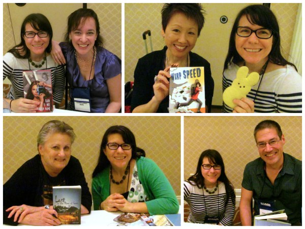 Authors I met at FAME. Clockwise from top left: Cynthia Leitich Smith, Lisa Yee, Greg Leitich Smith, Ginny Rorby