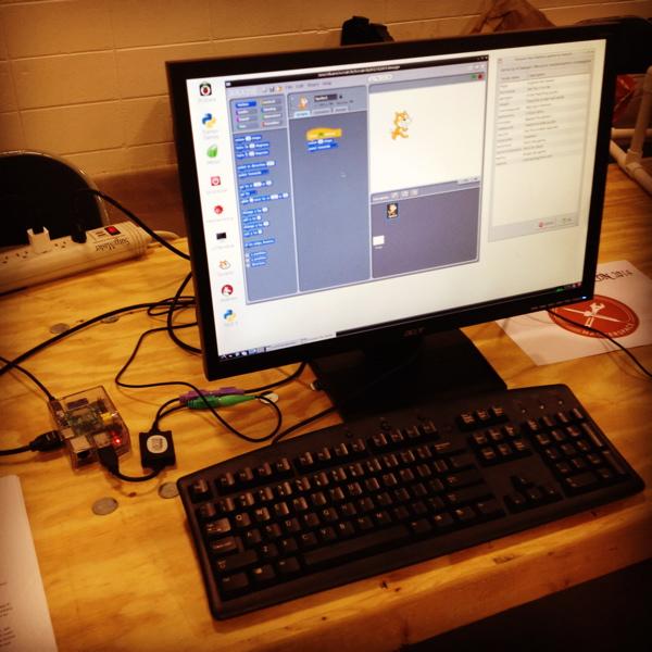 Raspberry Pi running Scratch