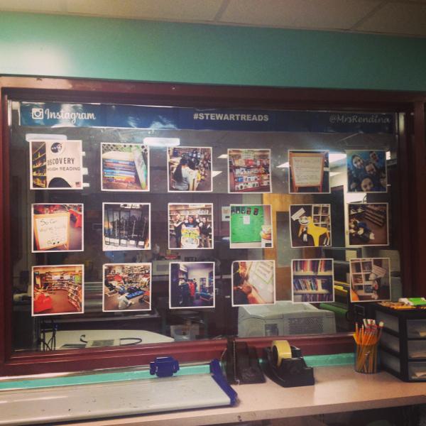 Our #StewartReads Instagram display