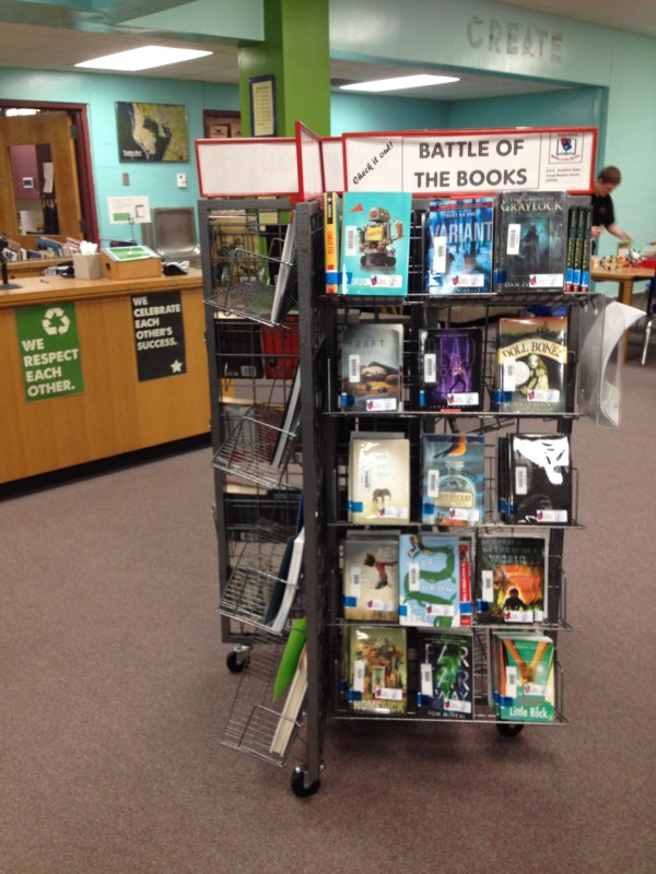 Our new book display rack