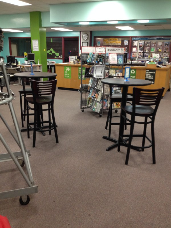 Our amazing new reading cafe!
