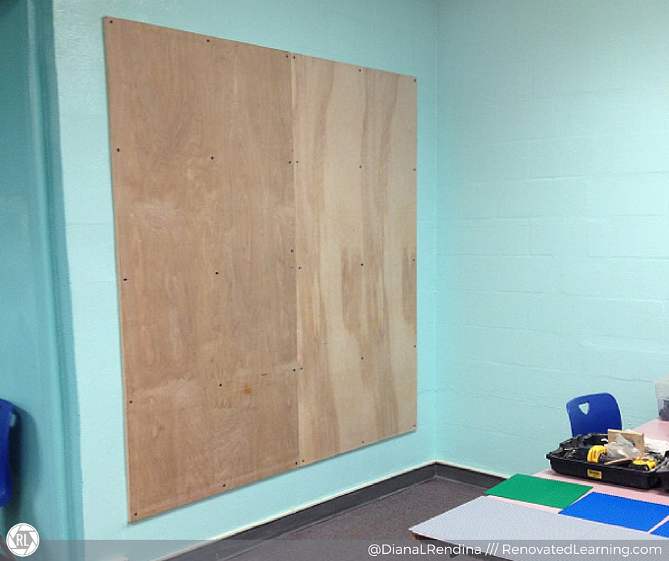 "The 80"" x 80"" plywood mounted and ready. 