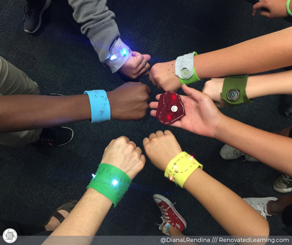 We funded consumable materials to make circuit bracelets through DonorsChoose.