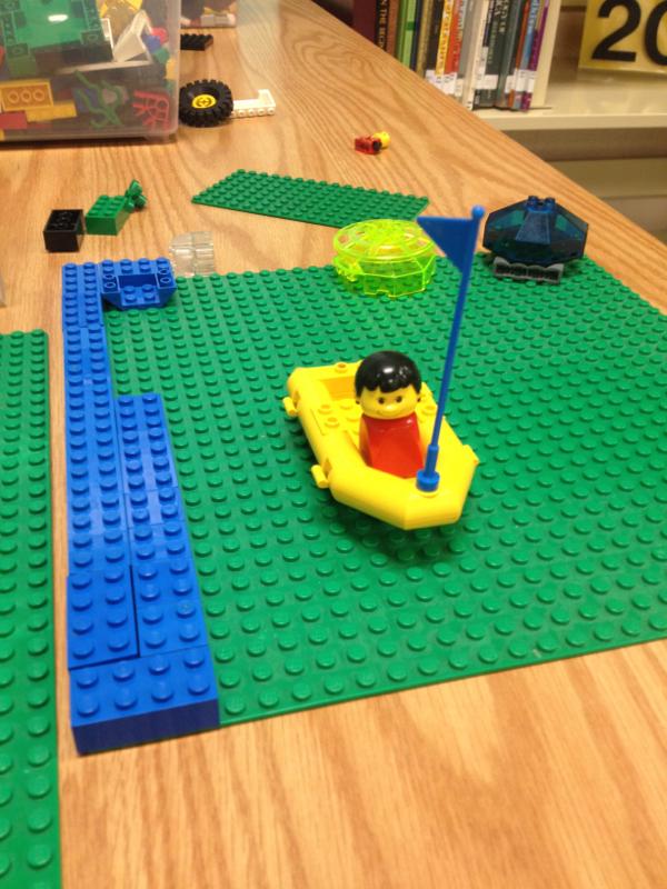 A LEGO scene