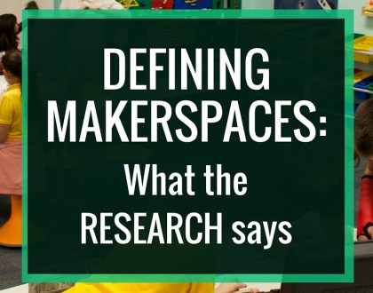 "Defining MAKERSPACES: What the research says: After receiving criticism that my space was not a ""real makerspace"", I decided to draft my own definition and take a look at how research defines makerspaces."
