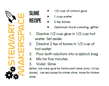 Our slime recipe cards