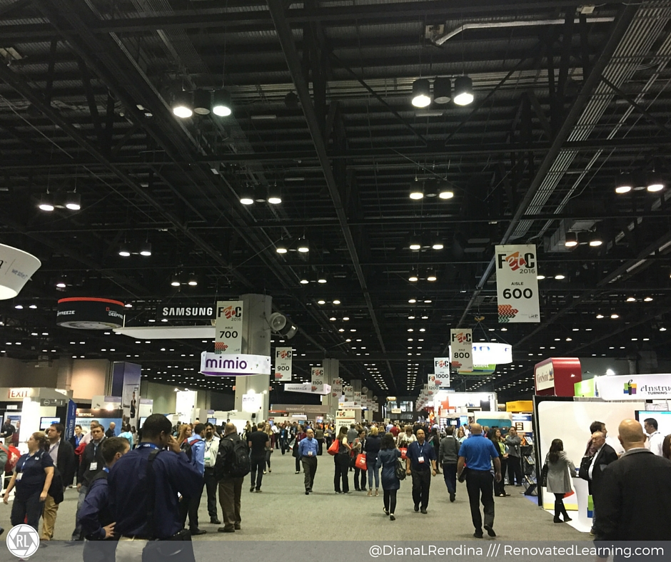 Vendor halls can be huge, so make sure you have a plan