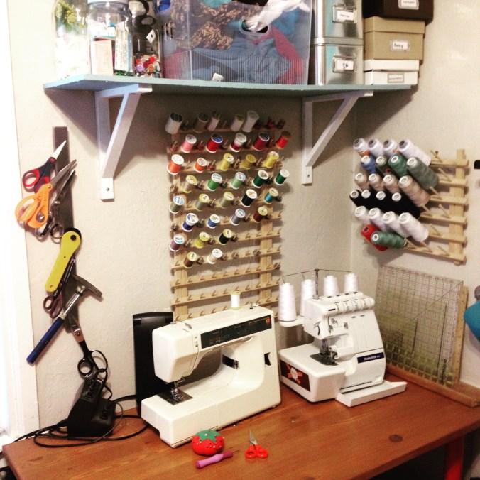 My favorite tool: My sewing corner