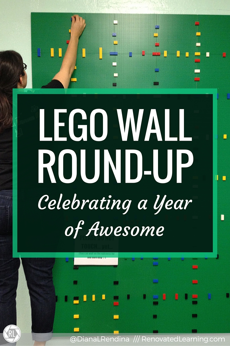 LEGO Wall Round-up: Celebrating a Year of Awesome | One year after building the LEGO wall at Stewart Middle Magnet School and posting a tutorial, I've collected images and stories of LEGO walls in other schools around the world.