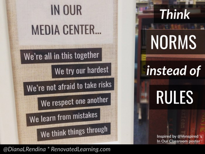 Norms instead of rules