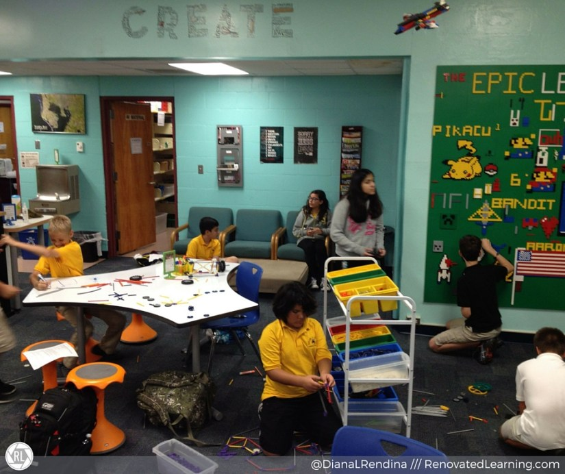 Students at work during Makers Club | RenovatedLearning.com