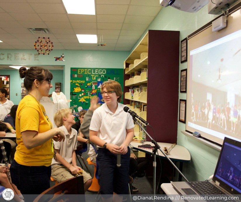 Skyping with Deer Path Middle School about our makerspace | RenovatedLearning.com