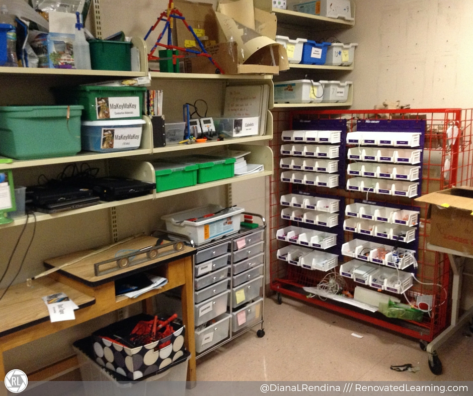 The Maker Room holds our technology and arts and crafts supplies, plus in-progress projects. | RenovatedLearning.com
