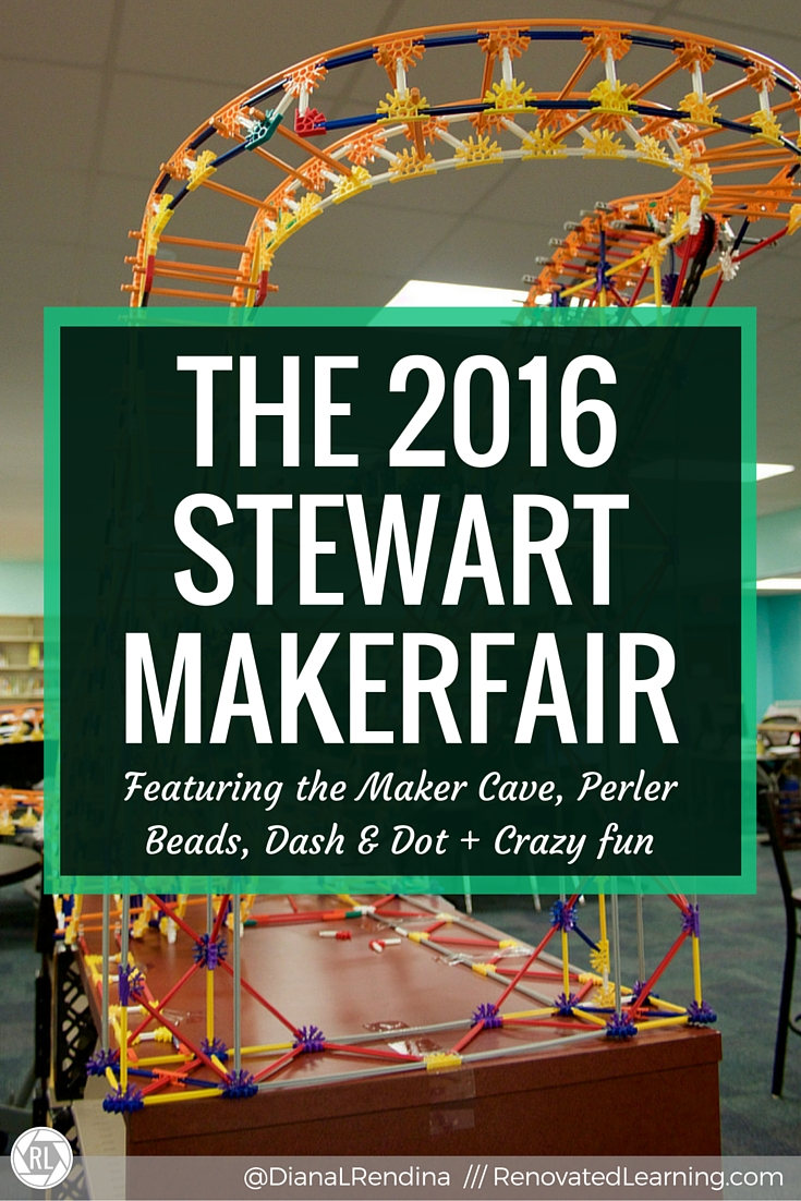 The 2016 Stewart MakerFair | Our 3rd Annual MakerFair was an awesome, amazing event. Learn all about our Maker Stations, Make and Take activities, and our awesome student projects, including the K'nex Crossbow, Maker Cave. K'nex roller coaster and Sphero vs. Dash obstacle course.