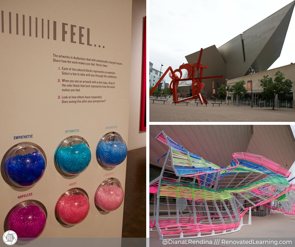 The Denver Art Museum encourages patrons to interact with the art