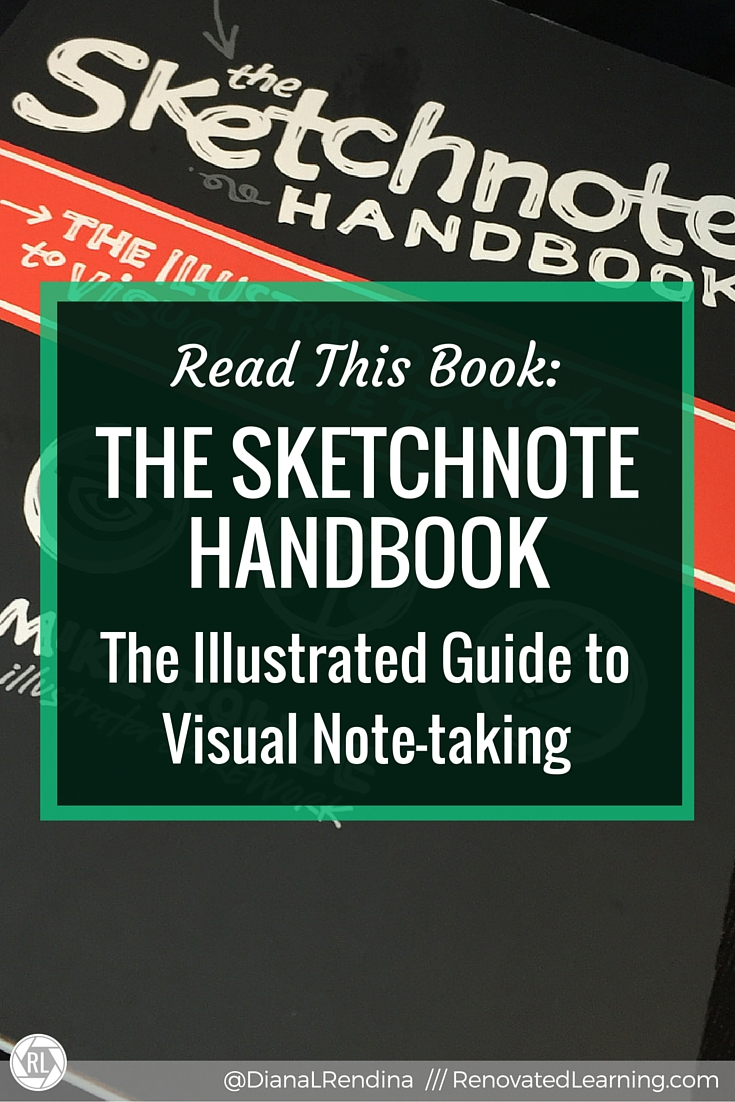 Read this book- The Sketchnote Handbook- The Illustrated Guide to Visual Note-taking | I may be a little late jumping onto the sketchnoting bandwagon, but I'm loving it. If you're interested in learning more about techniques and how to sketchnote, The Sketchnote Handbook is an amazing resource. Check out my review.