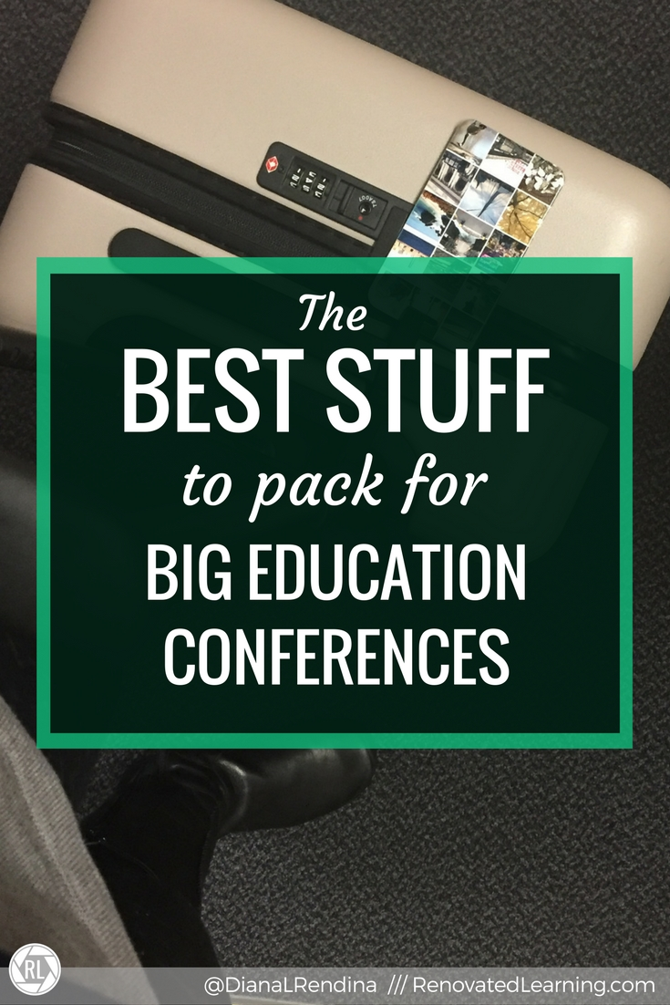 The Best Stuff to Pack for Big Education Conferences | It can be daunting to figure out what to bring with you for a big conference. Here's my tips on what stuff you should pack.