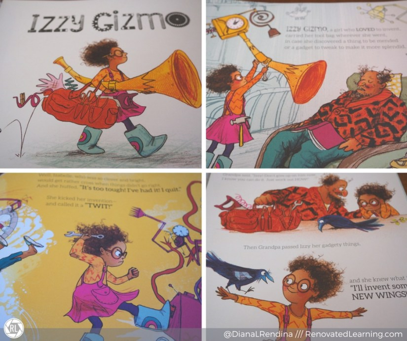 Just a few of the delightful pages in Izzy Gizmo