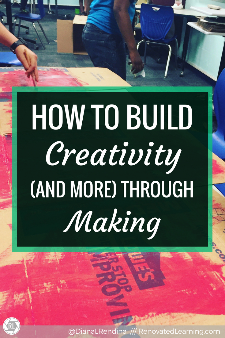 How to Build Creativity (and more) Through Making // The Four C's are a popular trend in education right now.  They may be a trend, but they're also valuable skills that students can learn through making - and it doesn't have to be expensive or complicated.