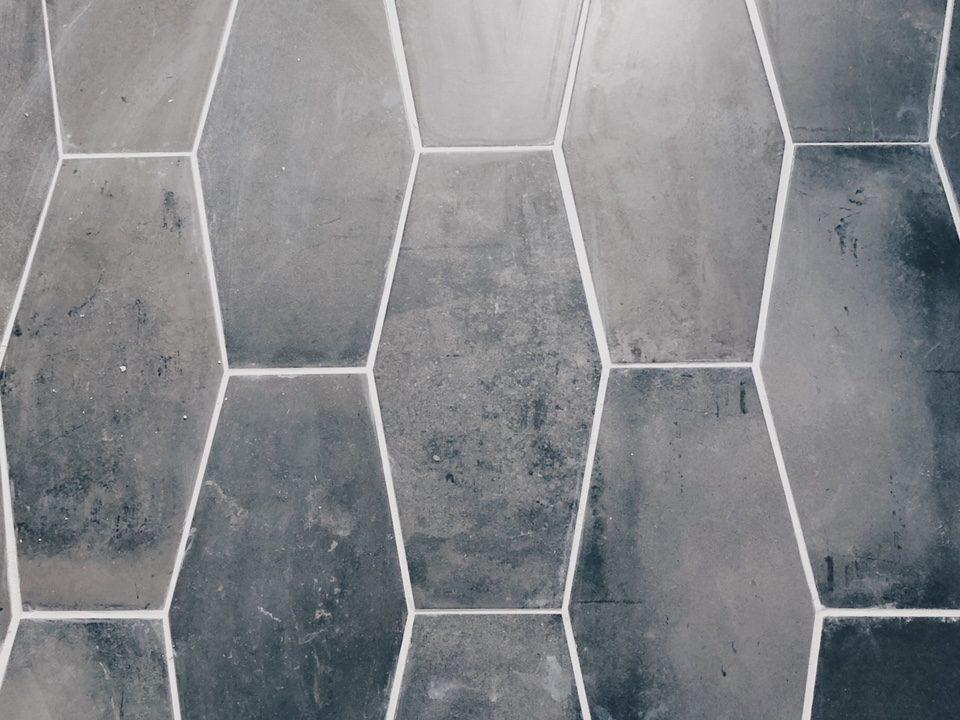 week 4 gray geometric tile and mid century bathroom renovating mapleson manor