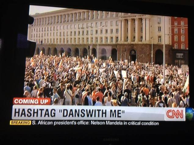 #ДАНСwithme CNN finally is covering the Bulgarian protests