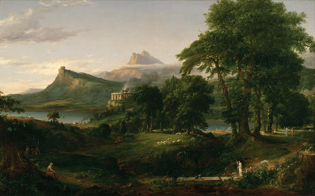 Thomas Cole – The Course of Empire – The Arcadian or Pastoral State
