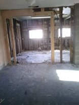 Seeing the kitchen now from the living room.