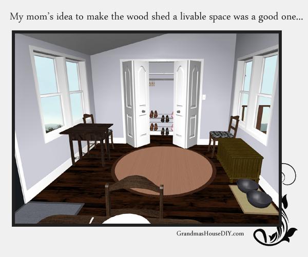 Remodeling an old farm house - creating storage and a mud room. Grandmashousediy.com