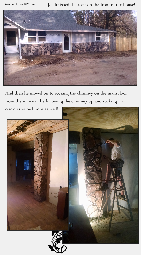 Putting stone on a 100 year old farm house