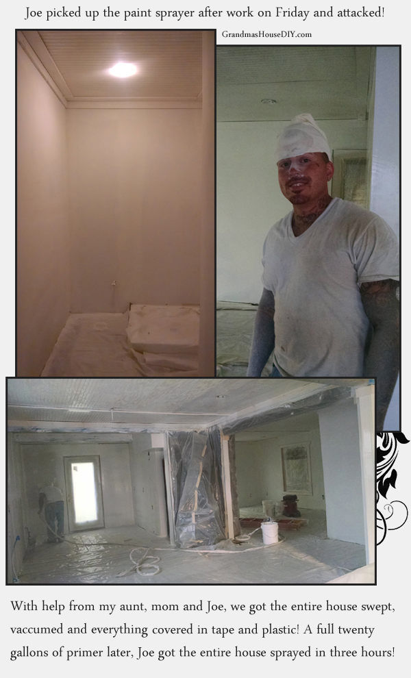 Priming with a sprayer