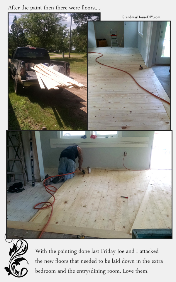 diy pine floors