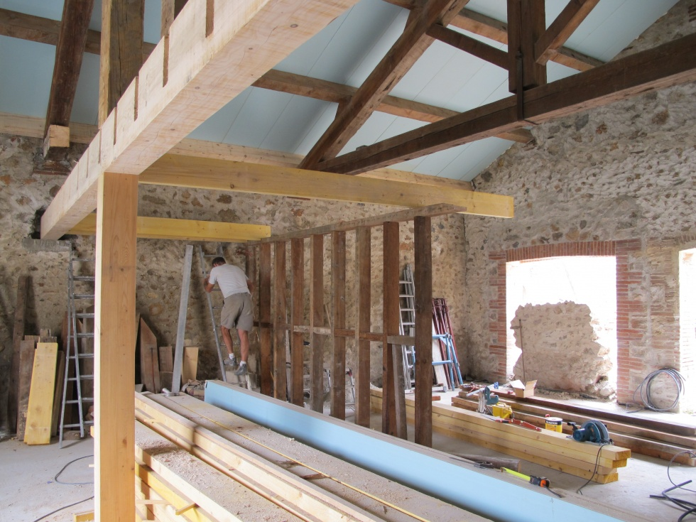 Semaine 24 Arches Charpente Et Premires Cloisons La